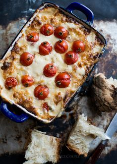 The Hot Mess Dip: Roasted Tomato and Sweet Onion Cheese Dip on WhiteOnRicecouple.com Antipasto, Hot Mess, Sour Cream, Appetizer Recipes, Cheese Dip Recipes, Appetizer Dips, Gourmet, Hummus, Crack Dip