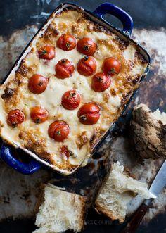 Roasted Tomato & Sweet Onion Cheese Dip via White on Rice Couple