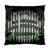 FrankenOuija pillow cushion case by Lttle Shop Of Horrors. HORROR, GOTHIC, OUIJA, SPIRIT, FRANKENSTEIN, BRIDE OF FRANKENSTEIN, HALLOWEEN, DEAD, UNDEAD
