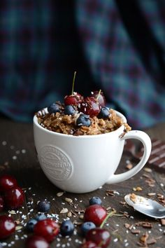 Waffle & Whisk: Coffee Oatmeal/Porridge with Cherries, Chocolate & Coconut