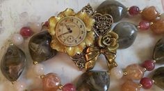 Roses Collage Brooch in a Vintage Style by FromABygoneTime on Etsy, $35.00