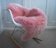 Gorgeous Pink Sheepskin Rug genuine Luxury Girly Sheepskin Throw by Swedishdalahorse #TrendingEtsy