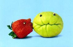 Arte en Vegetales y Frutas Funny