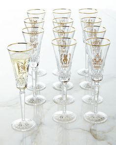 12 Days of Christmas Flutes by Waterford at Neiman Marcus.