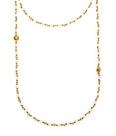 """Pin for Later: Henri Bendel's New Jewelry Line Looks Way More Expensive Than It Really Is Henri Bendel Luxe Henri Bendel Luxe 48"""" Beaded Strand Necklace in White/Gold ($118)"""