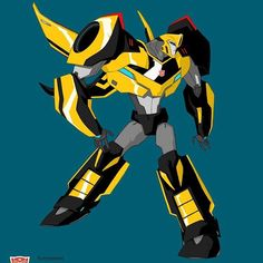 Bumblebee from robots in disguise. #transformersrid #transformers #bumblebee #hasbro #characterdesign #animation