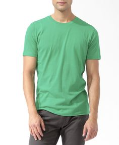 Crew Neck Tee | 21 MEN - 2000044094  --Forever 21 is super cheap and has great plain things!