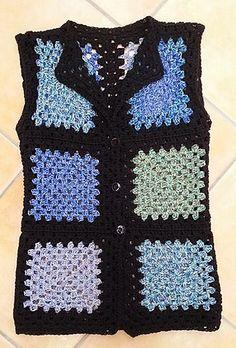 Ravelry: ärmellose Granny-Weste pattern by Sandra Scherndl