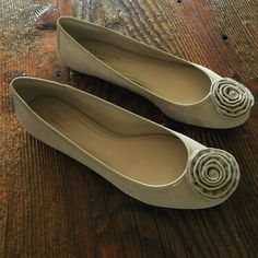 NEW Ballerina Flats  Never worn and perfect for all things Spring and Summer. A beautiful light tan suede that goes with every outfit and color. Size 9.5B. True to size and so comfy. Talbots Shoes Flats & Loafers