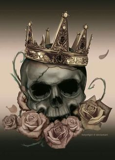 Roses and crown
