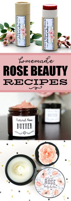 Rose Beauty Recipes! A stunning collection of homemade rose beauty recipes that you can make and gift! These beautiful DIY rose skin care recipes are a must have for your next DIY project! Plant based ingredients and creative styling come together for some of the best rose beauty recipes to care for your skin! Learn to make your own natural rose skin care recipes now at Soap Deli News blog! #rose #beauty #skincare #diy #recipes #crafts #gifts #giftideas #naturalbeauty #naturalskincare #roses
