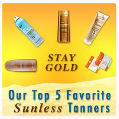 beauty editors reveal their top 5 picks for the best sunless tanners // summer can't come fast enough! #tan