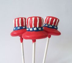 Uncle Sam Hat Cake Pop  4th of July Party Pops  by EntirelySweet, $39.00