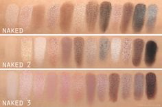 Naked Palettes comparison swatches @urbandecaycosmetics