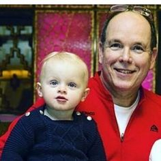 Prince Albert II and Hereditary Prince Jacques of Monaco.