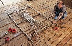 Direction on how to make an arbor, but I could use this to make a trellis for my climbing rose!!