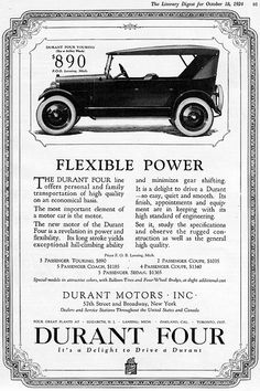 1924 Durant Four Touring