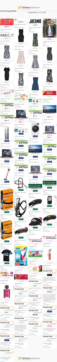 Our Savings for the 04/08/2016 at 19:50    Unmissable Deals on the 247homeshopping SUPER SAVER WALL!    http://www.247homeshopping.com/04-08-2016.htm?smm=pintwall04-08-2016-pFB1