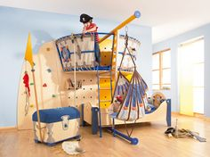 Get inspired with kids bedroom, kids' playroom ideas and photos for your home refresh or remodel. Wayfair offers thousands of design ideas for every room in every style. Pirate Bedroom, Kids Bedroom, Kids Rooms, Pirate Room Decor, Nautical Bedroom, Baby Bedroom, Nautical Theme, Kids Room Design, Design Bedroom