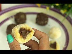 Brigadeiro de Leite Ninho recheado de Nutella = Ingredientes 4 Colheres (sopa) de Leite Ninho 1 Colher (sopa) de Margarina ou Manteiga 1 Lata de Leite Condensado Nutella p/ o recheio