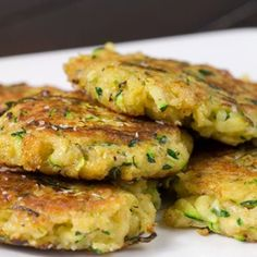 Zucchini Cakes-  1 large zucc. grated, excess water removed.  1/2 cup freshly grated Parmesan cheese  1 cup panko bread crumbs  sprinkle of ground nutmeg  1/4 teaspoon paprika  1 clove garlic, minced  1 egg  salt and pepper to taste  1-2 tablespoons olive oil  -Combine all ingredients,...  -Heat olive oil in a pan   -pan fry little patties
