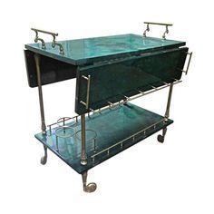 Aldo Tura Drinks Cart - $3,600 Est. Retail - $1,200 on Chairish.com