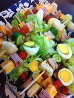 Salad Kabobs! - for our volleyball club food table!