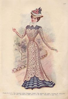 Edwardian Fashion Print from the Delineator Magazine Circa 1903 - 1909 (Print or…