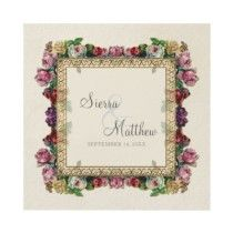 Gold Brocade Damask Floral Formal Elegant Wedding Invite by VintageWeddings