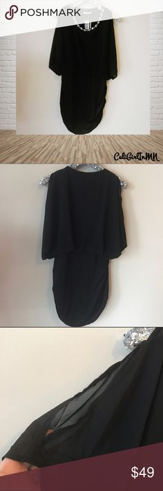 🌸5/$25 Sale San Joy Black Dress NWT Jeweled neckline. Cutout shoulders. San Joy Dresses