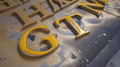 Joe Crumley epoxy HDU letters