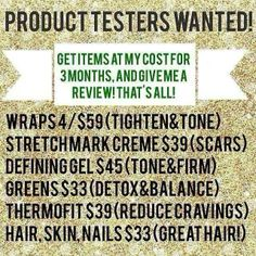 Who wants to do this?! Check out http://chrissyoakleywraps.myitworks.com