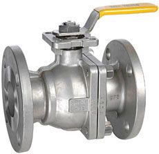 two-piece ball valve