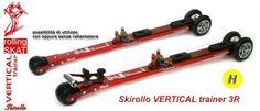 VERTICAL trainer non è un comune skiroll, si tratta infatti di uno strumento progettato appositamente per l'allenamento di Ski-Alp, in grado di simulare perfettamente  il comportamento degli sci sulla neve con le pelli di foca.    Skirollo VERTICAL trainer è utilizzato anche per i test su nastro trasportatore presso il Swedish Winter Sports Research Centre.    VERTICAL trainer è l'ideale anche per l'allenamento a raid invernali e traversate scialpinistiche - www.verticaltrainer.it