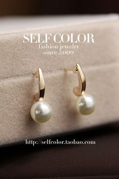 $4.43 small pearl earrings earrings jewelry female-ZZKKO