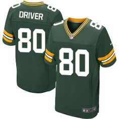 Cheap Mens Nike Green Bay Packers #80 Donald Driver Elite Green Team Color NFL Jersey free shipping