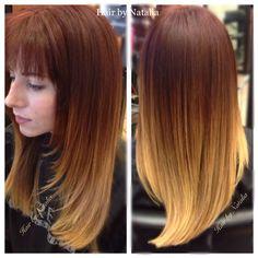 Balayage for red heads.  Balayage Ombre for long hair. #balayagedenver www.hairbynatalia.com