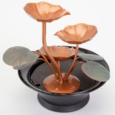Indoor Water Lily Water Fountain-Small Size Makes This A Perfect Tabletop Decoration