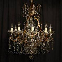 Antiques Atlas - A French Bronze 10 Light Antique Chandelier