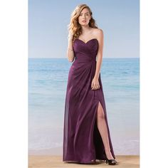 Aliexpress.com : Buy Romance Purple Bridesmaid Dresses Off the Shoulder Sweetheart Sleeveless Backless Side Split Chiffon with Tulle Bridesmaid Dress from Reliable chiffon strapless long dress suppliers on Life&Peace Dress Store  | Alibaba Group
