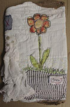 grow art journal wrap fabric