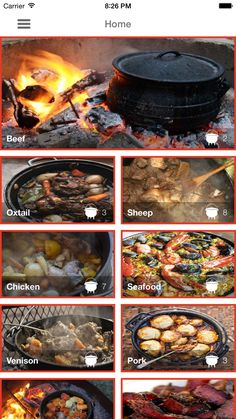 ‎Potjiekos Recipes on the App Store Beef Oxtail, Oxtail Recipes, Dutch Oven Bread, Biltong, Grilled Steak Recipes, South African Recipes, Barbecue Recipes, Oven Roast, Venison