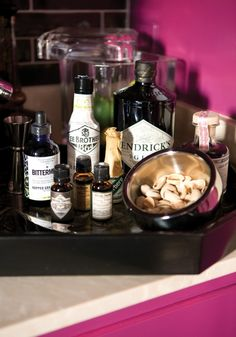 the perfect home bar tray
