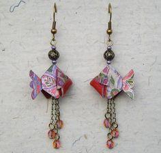 Boucles doreilles POISSON origami \u20ac18.00