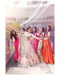 Your best friend's wedding is finally here and it's time for you to show some moves? Here are our Top 10 Bridesmaids Songs shortlisted just for you! Bridesmaid Poses, Indian Bridesmaids, Indian Wedding Photography Poses, Girl Photography Poses, Photoshoot Images, Wedding Photoshoot, Wedding Attire, Bffs, Selfies