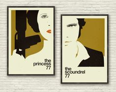 STAR WARS Inspired Poster, Art Print Series - 24 x 36 Large, Gold, Mid Century Modern, Minimalist, Swiss Style