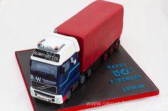 Volvo Lorry - Lewis, Birthday cake  by sweet fantasies
