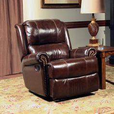The Camelot Push Back Recliner by Parker House is the perfect addition for a living room, office, or den. Wrapped in a Earth Color leather match, it offers soft seating space, a comfortable headrest and roll arm rests. Pool Furniture, Furniture Deals, Fine Furniture, House Furniture, Furniture Outlet, Club Furniture, Furniture Chairs, Furniture Online, Furniture Stores