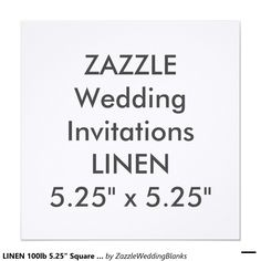 "LINEN 100lb 5.25"" Square Wedding Invitations"