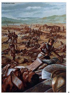 aftermath of Gaugamela, fought between Macedonia and Persians